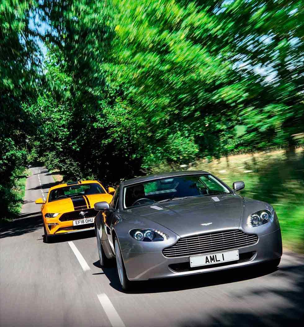 Aston Martin V8 Vantage 4.3 vs. Ford Mustang 5.0 V8 GT