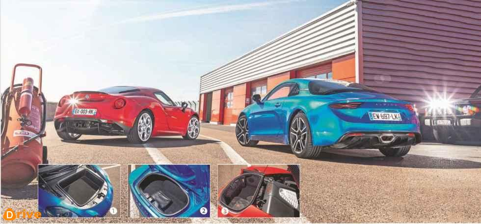 2019 Alpine A110 and Alfa Romeo 4C