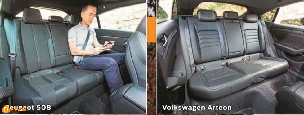 2019 Peugeot 508 vs 2019 Volkswagen Arteon interior