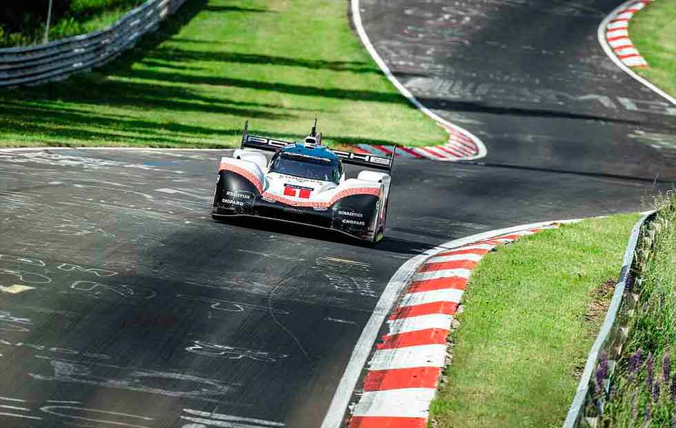 Nürburgring lap record smashed. Timo Bernhard's Porsche 919 Evo obliterates time set by Stefan Bellof 35 years ago.