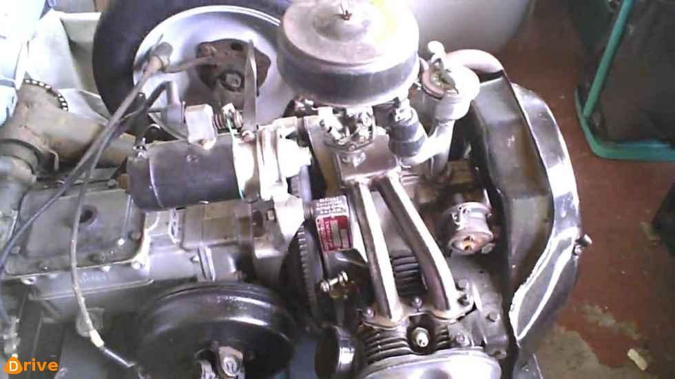 1959 Citroen 2cv AZL engine
