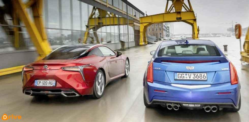 2019 Cadillac ATS V vs 2019 Lexus LC 500