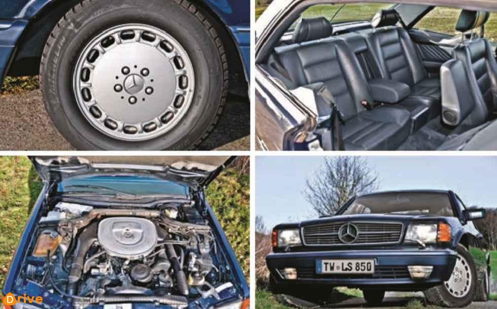 1980er Mercedes S Klasse W126 Coupé 560sec parts