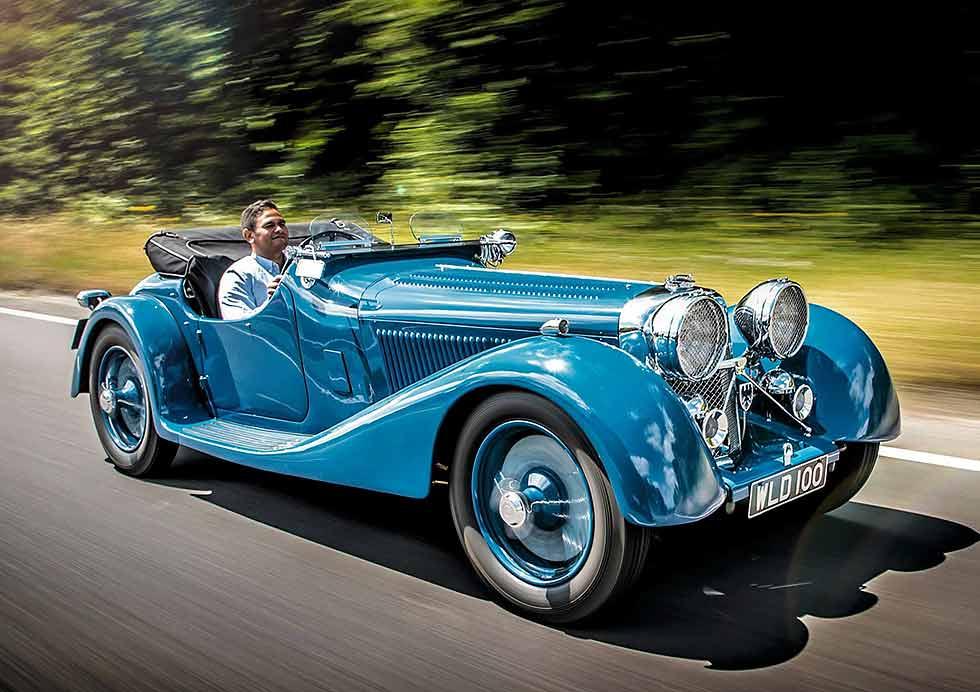 1938 SS Jaguar 100 by Leonida - road test