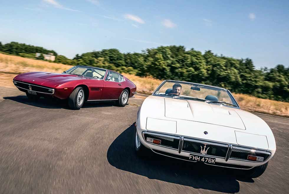 1970 Maserati Ghibli SS 4.9 Coupé by Ghia AM115/491668 and 1969 Maserati Ghibli Spyder SS AM115/49S1251