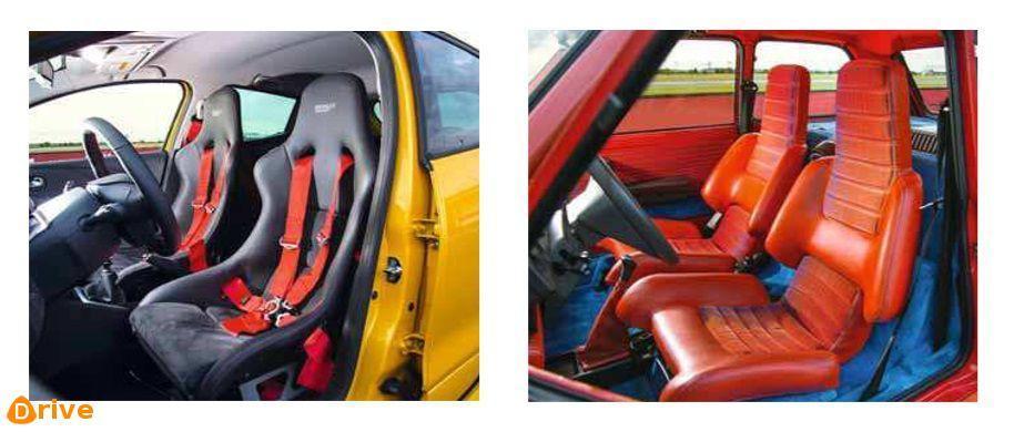 Clio Rs16 & Renault 5 Turbo 1 interiors