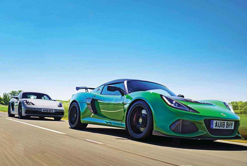 2019 Lotus Exige Sport 410 vs. 2019 Porsche Cayman GTS 982C - comparison coupe road test