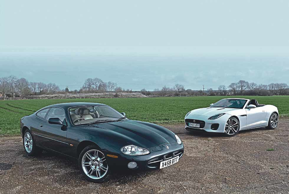 2000 Jaguar XK8 4.0 Coupe V8 X100 vs. 2018 Jaguar F-Type 2.0 i4 R-Dynamic Convertible - comparison road test