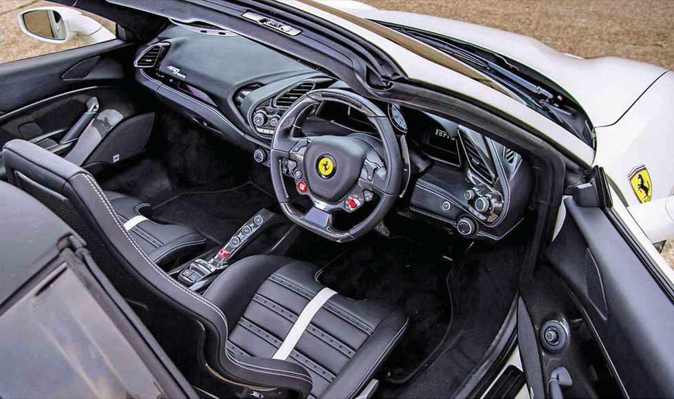 2019 Ferrari 488 Spider interior