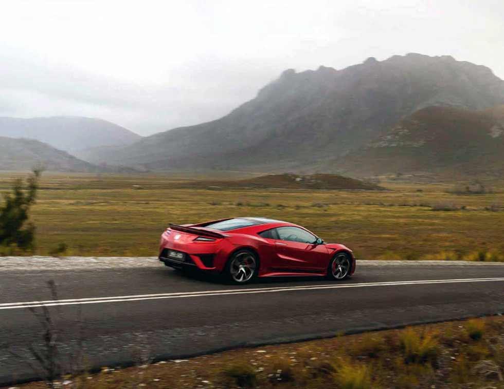 2019 Honda NSX in Tasmania power trip