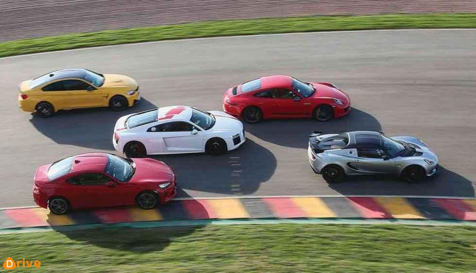 Audi R8 BMW M4 Lotus Elise Porsche 911 Toyota GT86