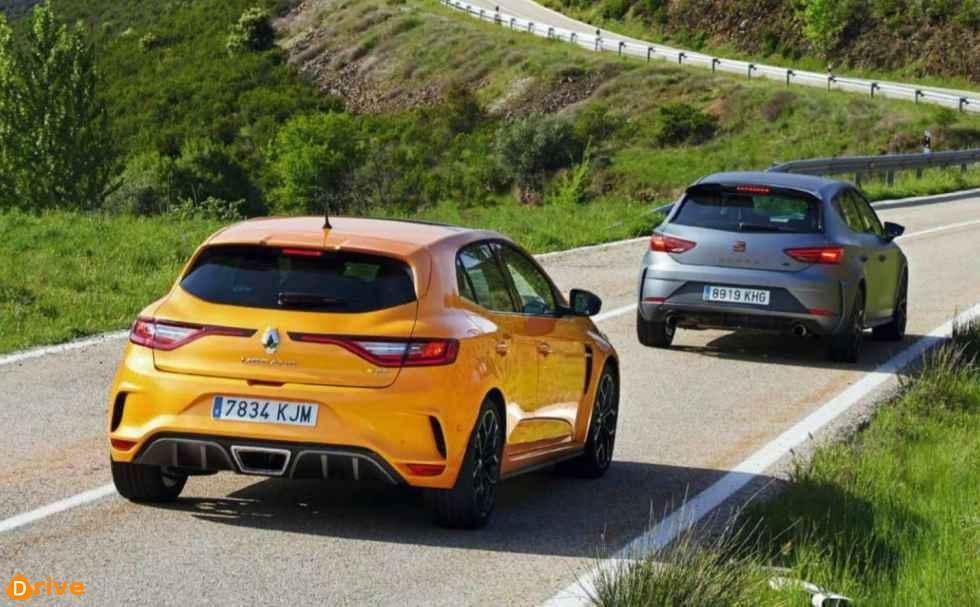 Seat Leon cupra R and Renault Megane