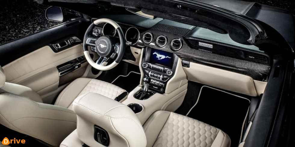 2018 ford mustang 5.0 convertible interior