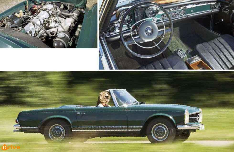 1967 Mercedes Benz 280 Sl W 113 interior & engine