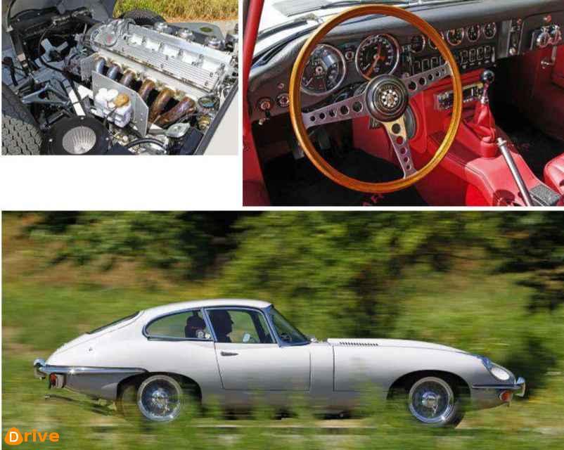 1970 Jaguar E Type 4.2 engine & interior