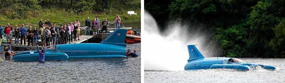 Bluebird K7 was tested again on Loch Fad, 5 August 2018