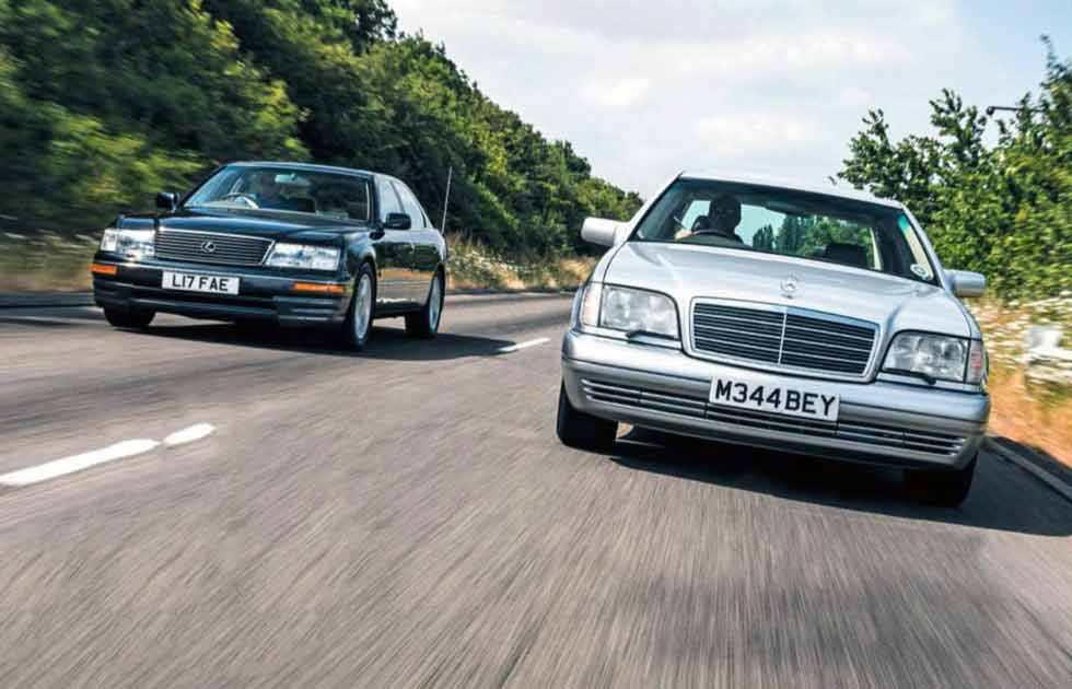 Lexus LS400 UCF10 vs. Mercedes-Benz S500 W140