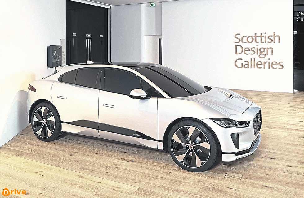 Scottish design talent - full-size clay model of the Jaguar I-PACE
