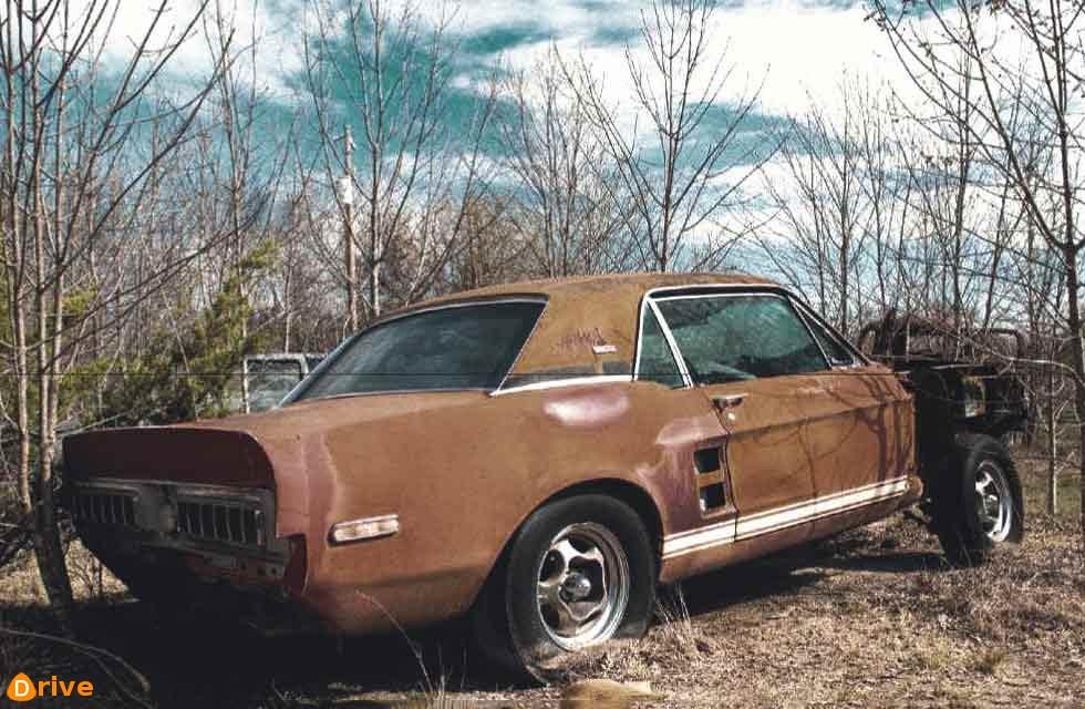 Super sleuthing uncovers experimental Shelby GT500 hack long thought destroyed. 1967 Shelby hack 'Little Red' tracked to a field in Texas.