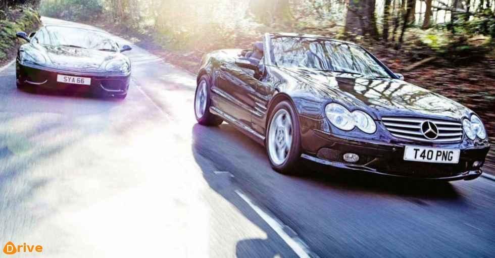 360 Spider F1 vs Sl55 AMG