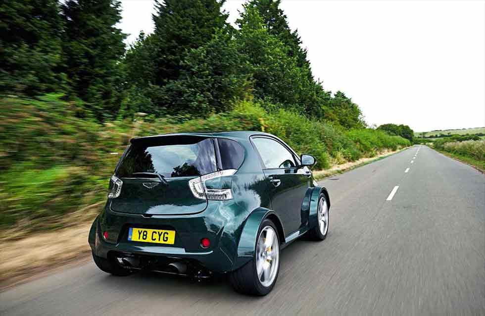 James Arbuckle Aston Martin's Q division, this V8-engined Cygnet