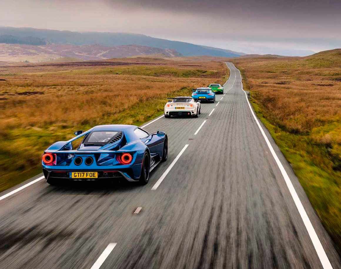 2018 Lotus Exige Cup 430 vs. 2018 Mercedes-AMG GT R C190, 2018 Ford GT and 2018 Porsche 911 GT2 RS 991.2 - comparison road test
