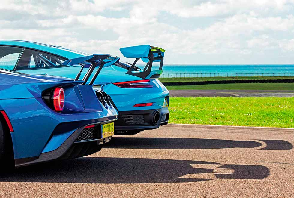 2018 Lotus Exige Cup 430 vs. 2018 Mercedes-AMG GT R C190, 2018 Ford GT and 2018 Porsche 911 GT2 RS 991.2