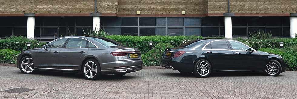 2019 Audi A8 L S line 50 TDI quattro D5 vs. 2019 Mercedes-Benz S350d AMG Line L W222