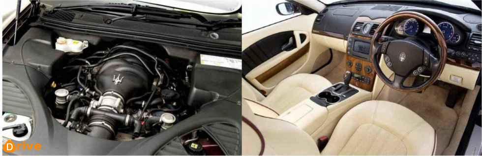 2012 Maserati Quattroporte Sport GT engine interior