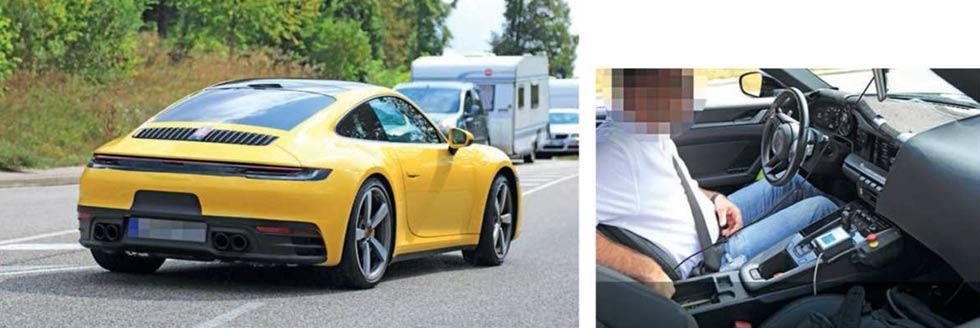 Spy Shot Porsche 911 992