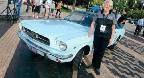 Gail Wise, owner of the first Mustang ever sold