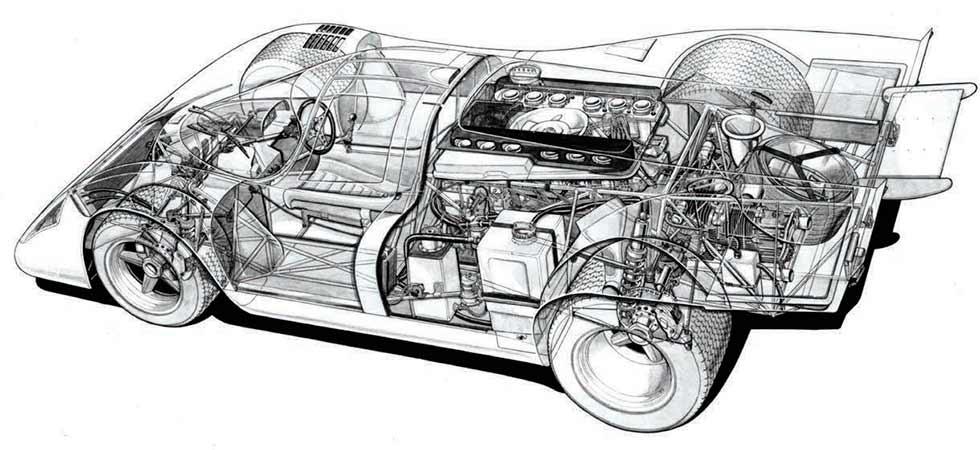 Porsche 917K cutway