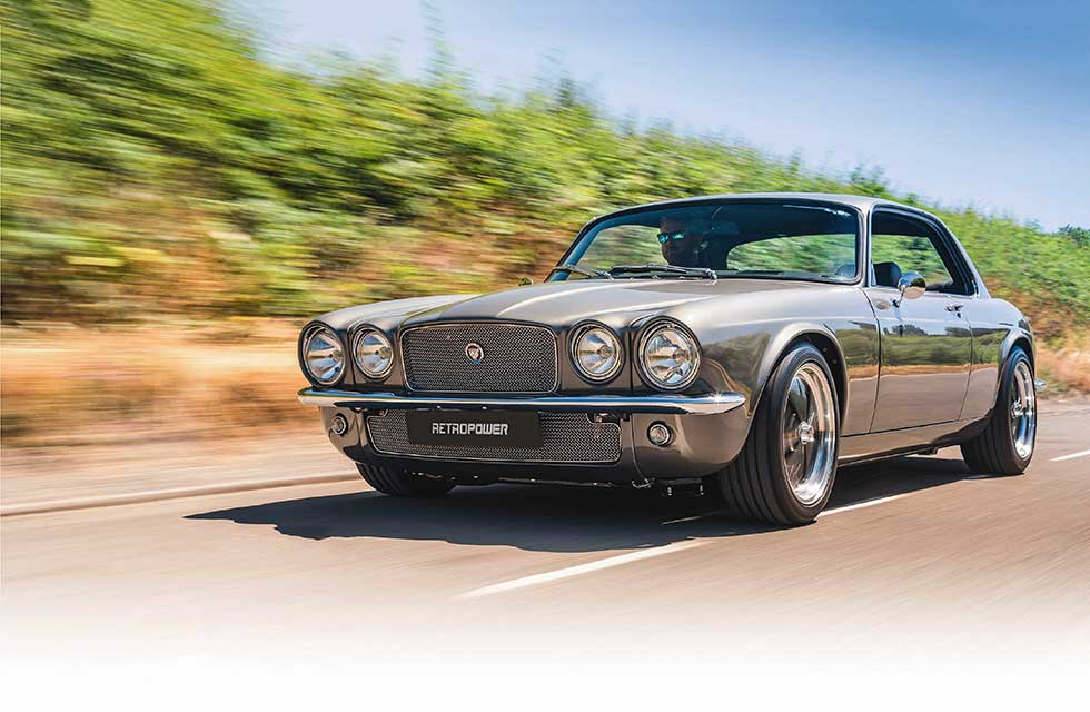 Jaguar XJC LS3 V8-engined Restomod created by Hinckley-based Retropower