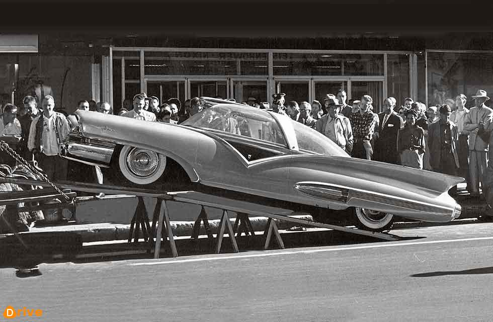 Ford Mystere, seen being unloaded for the Chicago Extravanganza in October 1956