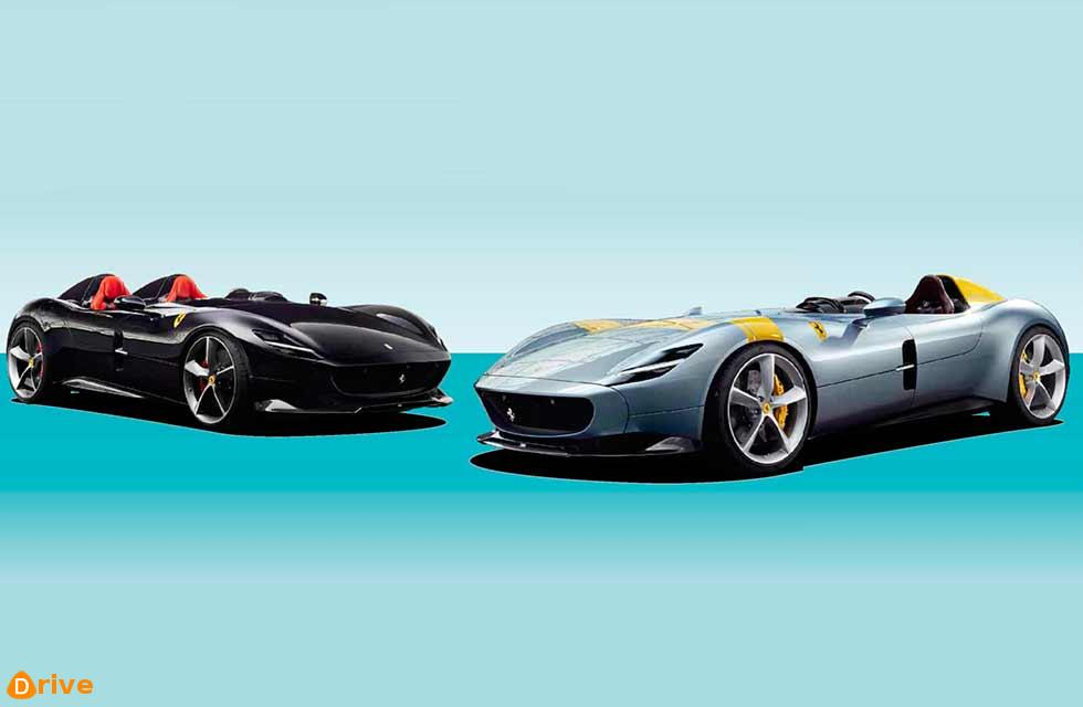 Monza SP1 has a single seat, the SP2 a pair of them
