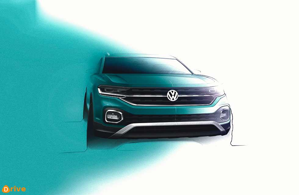 Volkswagen T-Cross: sketches revealed ahead of Paris debut