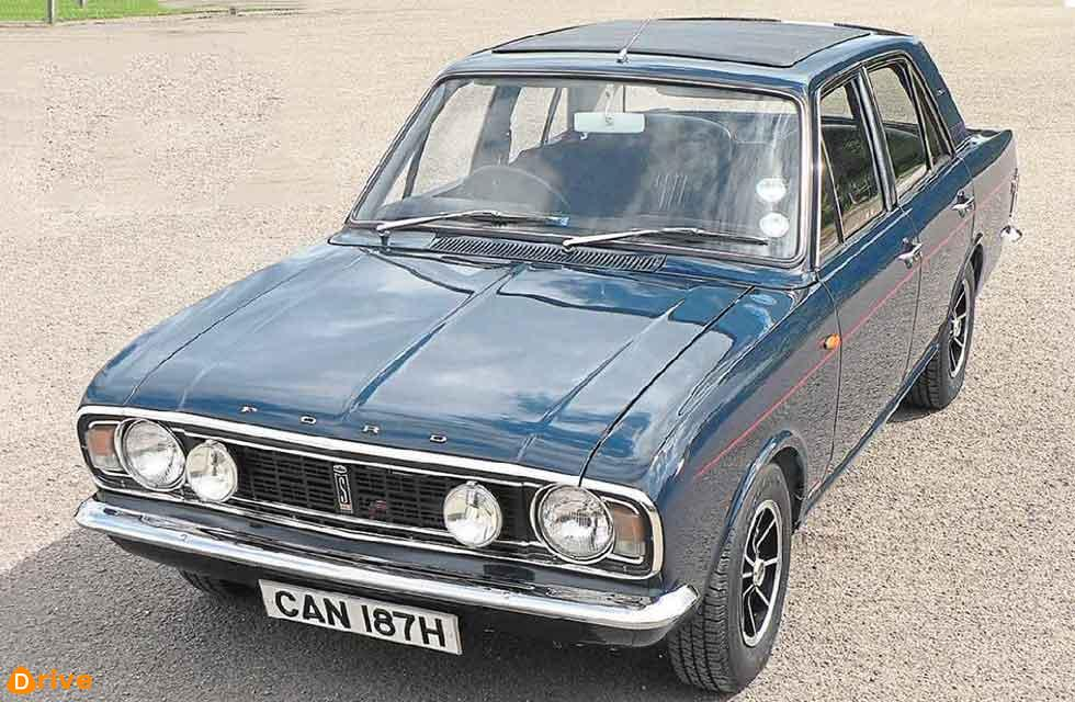 Belonging to Rob Sargent, this Mk2 Cortina is a rare Savage V6 variant.