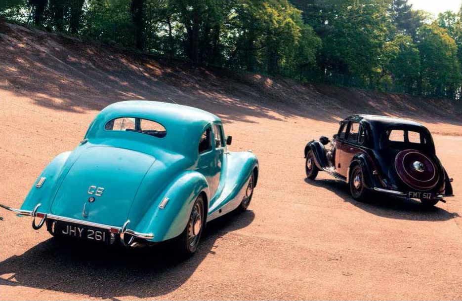 Mike Dawes' 1937 Frazer Nash-BMW 326 FMT 517 and Michael Barton's 1946 Bristol Type 400 JHY 261