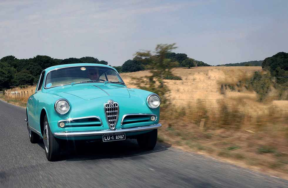 Rare prototype 1954 Alfa-Romeo Giulietta Sprint Type 750 - road test
