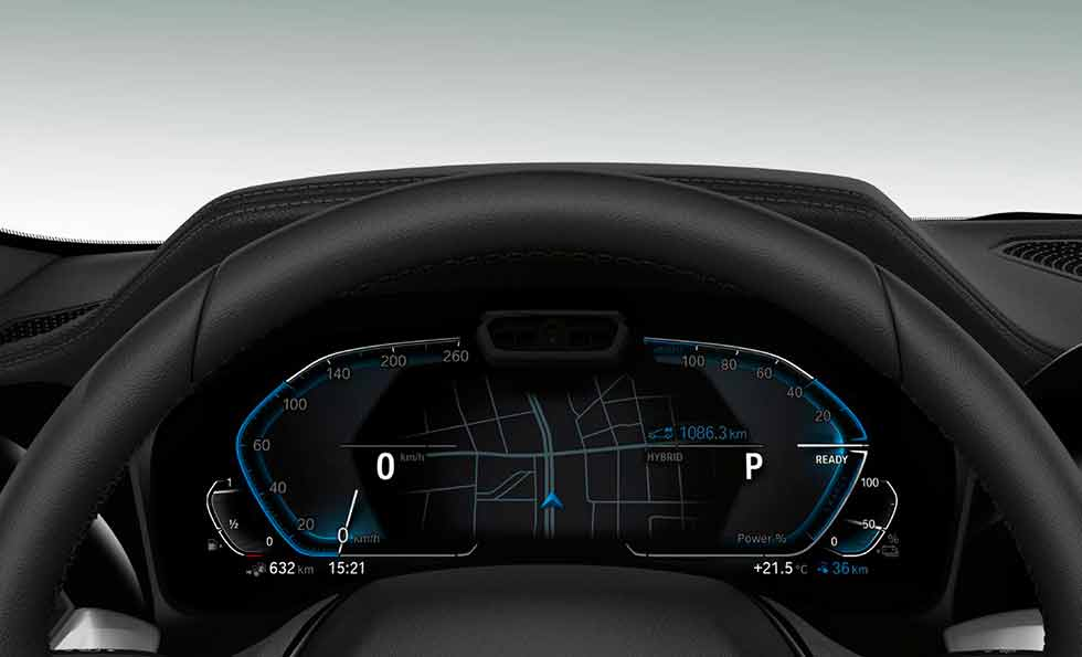 2019 BMW 330e G20 dashboard