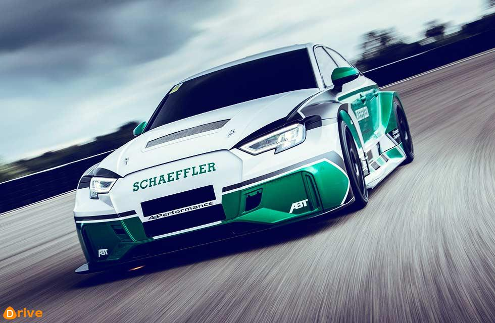Schaeffler turns RS3 TCR touring car racer into a four-motor, all-wheel drive electric dynamo