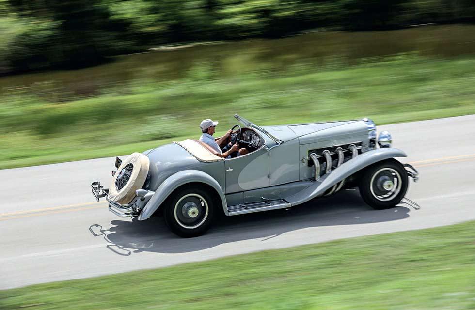 1935 Duesenberg SSJ road test