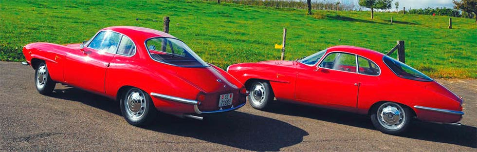 Alfa Romeo Giulietta Sprint Speciale Tipo 750 SS/101.20 - twin test: early versus late