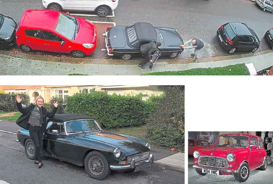 Thieves filmed in the act as stolen MGB case goes viral