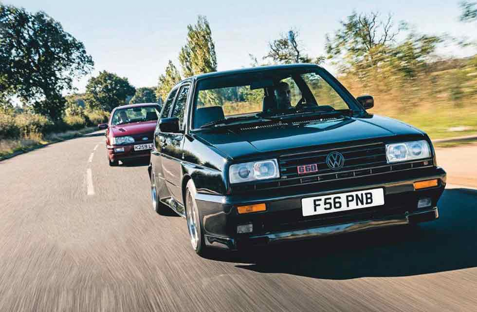 Ford Sierra RS Cosworth vs. Volkswagen Golf Rallye Mk2 - comparison road test