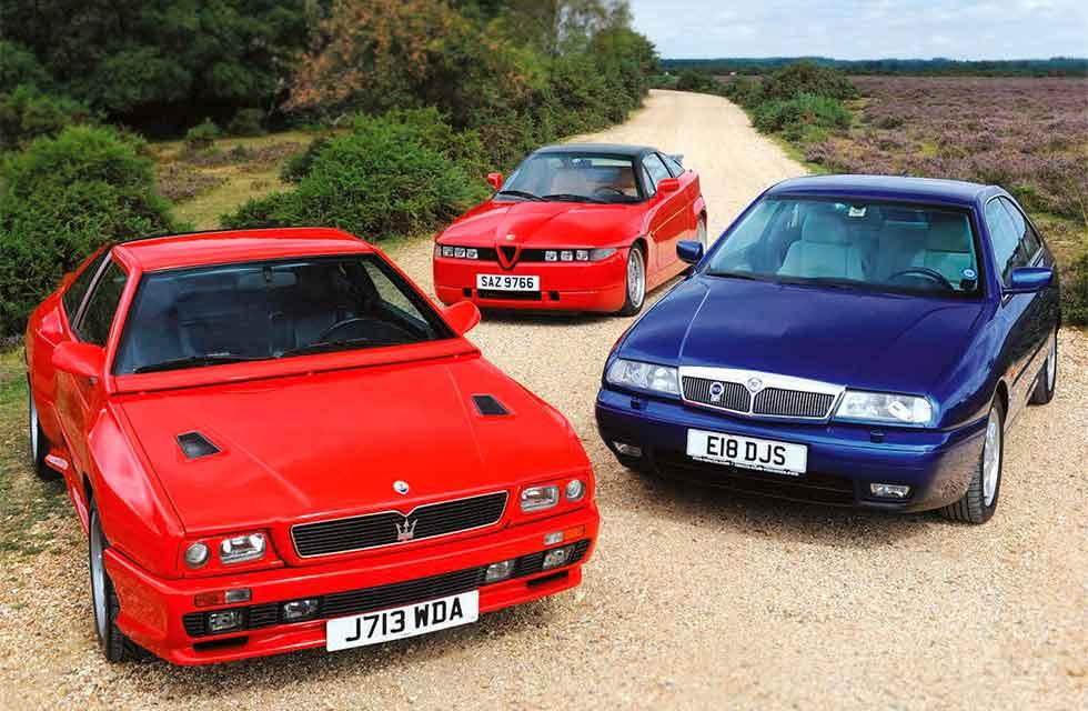 Maserati Shamal vs. Alfa-Romeo SZ and Lancia Kappa Coupe 2.4 - triple test of ugly ducklings with inner beauty…