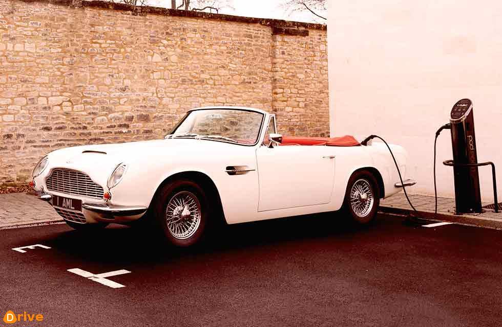1970 Aston-Martin DB6 MkII Volante is the first car to receive Aston Martin's radical new EV powertrain