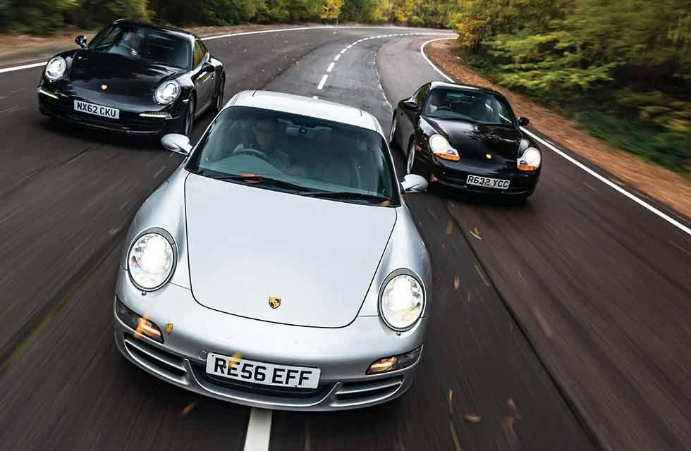 Porsche 911 Carrera 2 shootout: 996 v 997 v 991