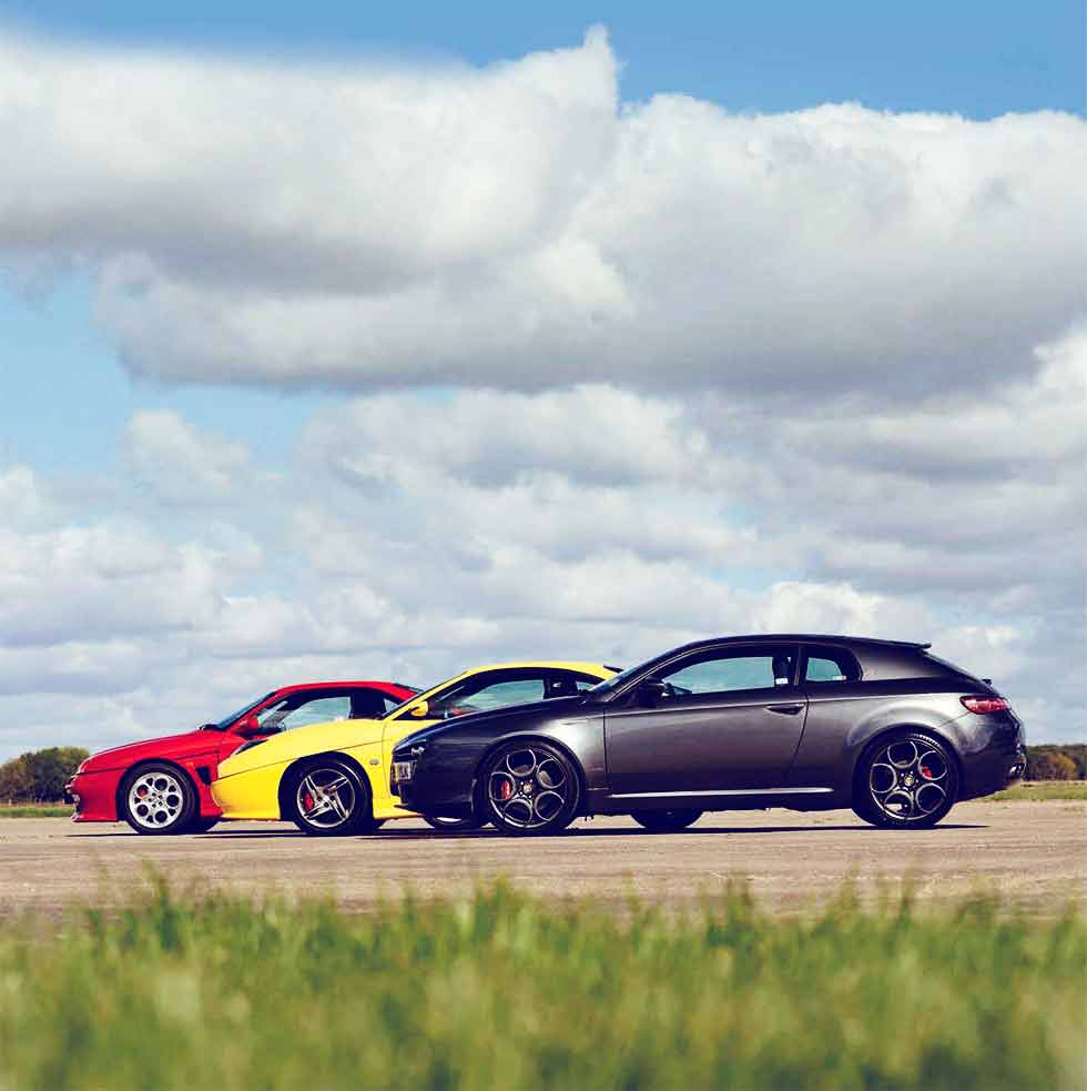Alfa-Romeo GTV 3.0 V6 Cup Type 916 vs. Alfa-Romeo Brera 2.2 Prodrive S Type 939 and Fiat Coupe 20V Turbo Plus Type 175 - comparison road test