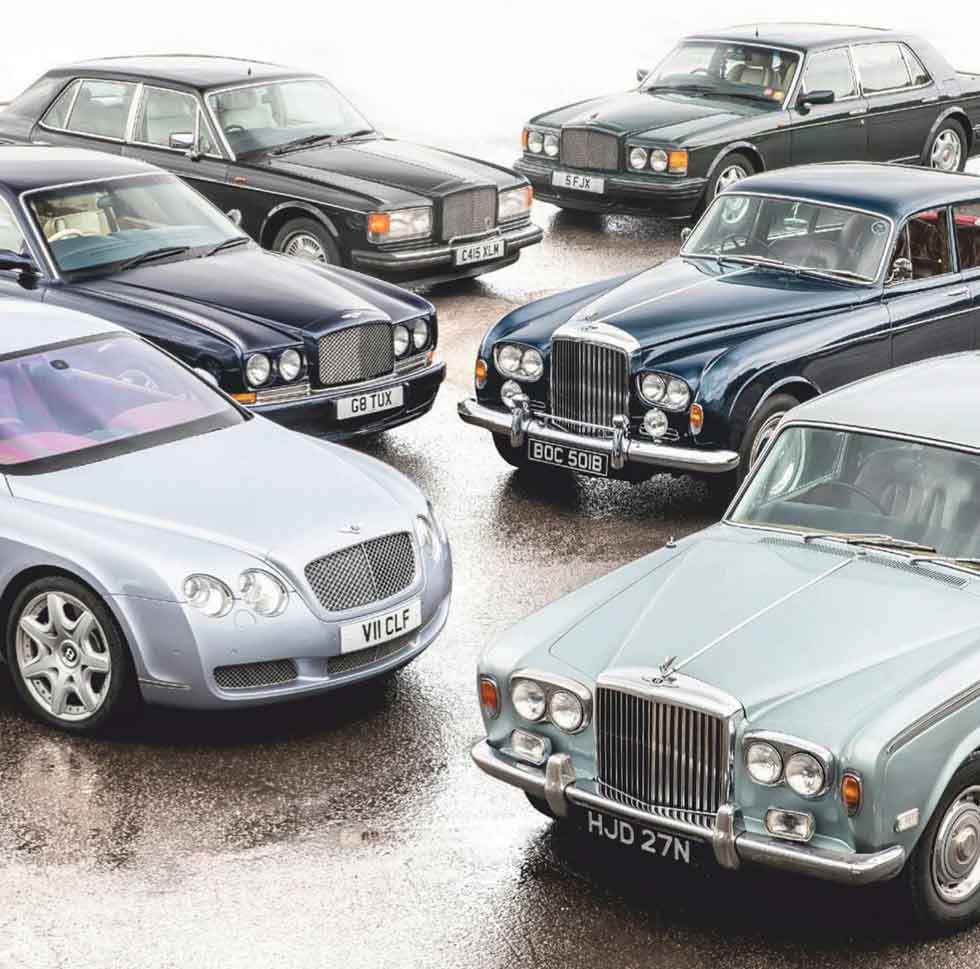 Bentley Continental GT vs. Continental R, Eight, S3 Flying Spur, T1 and Turbo R